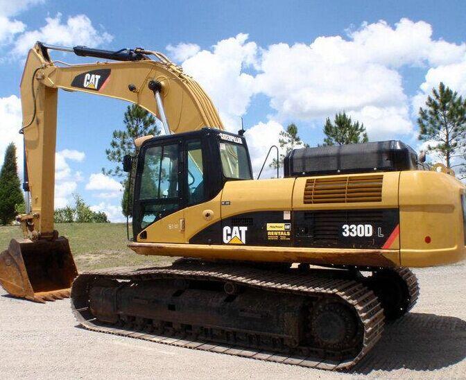 卡特336D挖掘机行走缓慢无力
